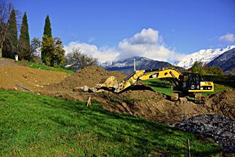 Début des travaux de construction des gîtes de la Bresse