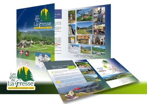 Plaquette de présentation des gîtes de la Bresse