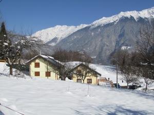 Les gîtes de la Bresse sous la neige